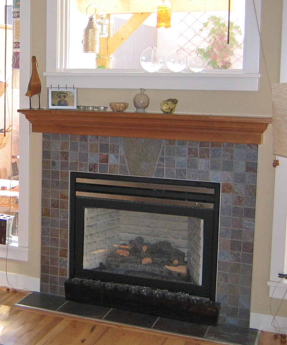 Fireplaces white or not for Fireplace no mantle