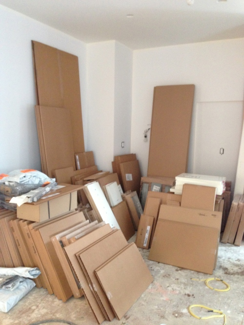 Kitchen in boxes
